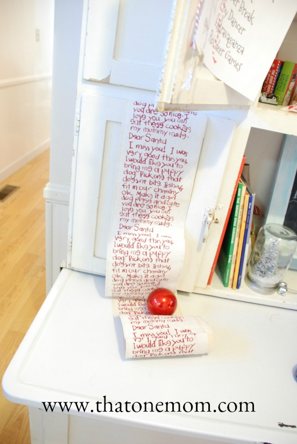 Letter to Santa printed on fabric ribbon