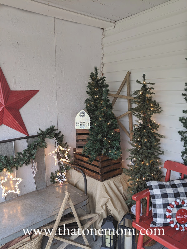 Tobacco stick stars and Christmas trees