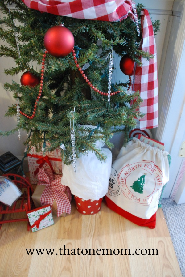 Santa's Mail Bag under a Christmas tree