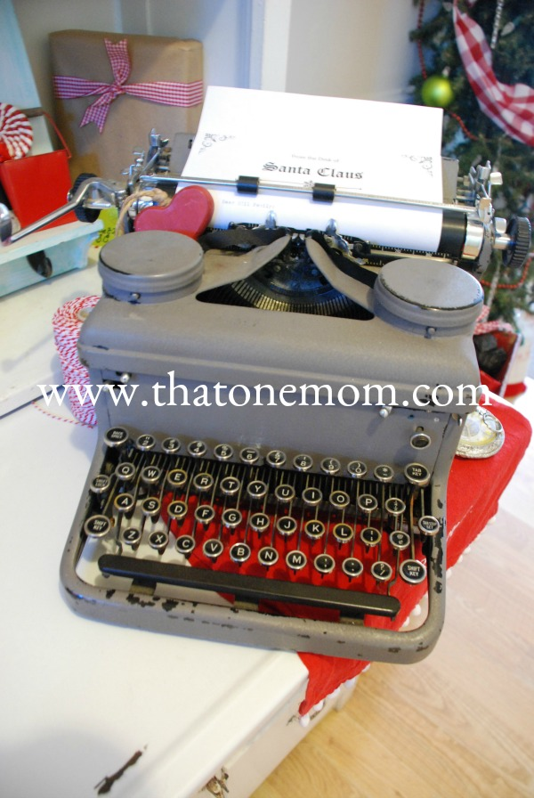 Typewriter with Dear Santa letter